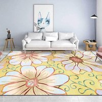 Carpets 100X160CM American Style Large Floral Pattern Carpet Soft Home Bedside Floor Mat Rugs For Bedroom Girls Room Decor Rug Customize