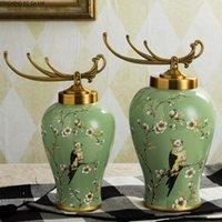 Keramik Aufbewahrungsdose Desktop Dekoration Blume Arrangement Vase European Wohnzimmer Dekoration Home