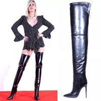 Cross-Border High-Top over the Knee Boots European and American Fashion Sexy Boots Womens Shoes Amazon Foreign Trade plus Size Womens Boots