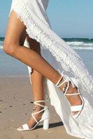 Белые сандалии летний пляж свадебные свадебные туфли новейшие открытые пальцы на шнурок высокий каблук сплошной цвет женские женские выпускные вечеринки обувь
