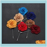Pins, Jewelrywholesale- Wedding Brooches For Men Lapel Flower Daisy Handmade Boutonniere Sticks Brooch Pin Mens Suits Clothing Aessories Bla