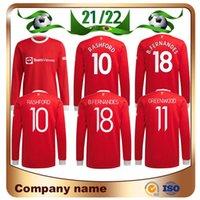21/22 Manchester Manica lunga United Ronaldo Pogba Jerseys Soccer 2021 Martial Lukaku Rashford Camicia B.fernandes Greenwood Lingard Uniform uniforme