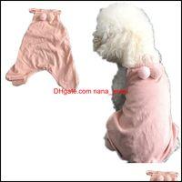 Suministros para perros Home Gardendog Apparel Pajamas de algodón 4 piernas ropa de mascotas Camisa de chaleco de mono con PJS Pijs Pijamas Pijamas Ligero