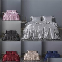 Bedding Supplies Textiles & Gardenprincess Luxury Beding Sets King Queen Size Comforter Bed Cotton Ruffle Champagne Duvet Er Bedsheet Set Gi