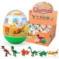 Dinozor Oyuncaklar Yapı Taşları Topu 6in1 Mini Kapsül Sürpriz Hayvanlar Dünya Yumurta Bebek Oyuncakları Çocuklar için Set Eğitim Eğlenceli Doğum Günü Hediyesi 06