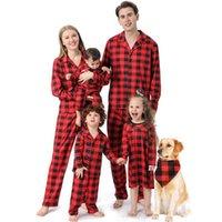 크리스마스 가족 일치 어린이 의류 세트 인쇄 정장 아기 가족 봐 부모 - 자식 잠옷 캐주얼 홈 일치하는 복장 G0928