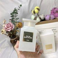 In magazzino Design di lusso 100ml Profumo Bottiglia smerigliata Eau de Soleil Blanc Top Quality Bello odore di lunga durata Tempo libero Spedizione gratuita
