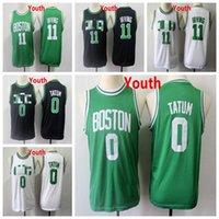 2021 بوسطنسلتيكسرجل أطفال 11 irving الفانيلة كيري الشباب 0 تاتوم طبعة كرة السلة جيرسي الأخضر أبيض أسود