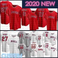 2020 Männer 27 Mike Trout Custom Shohei ohtani Baseball Jersey Antheis Rendon Reggie Jackson Jefry Marte Zack Cozart AndRelton Simmons Pujols