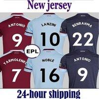 21 22 West Soccer Jerseys 햄 2021 2022 United Home 멀리 홈 멀리 Yarmolenko Lanzini Noble Bowen Antonio Football Shirt Fonals 쌀 남성 + 키즈 키트 유니폼 Soucek Benrahma