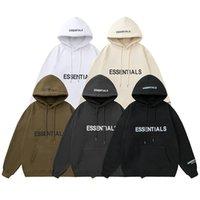 Paura di God Designer Mens Felpa con cappuccio Donne Nebbia Oversize Hip Hop Fashion Casual Hooded Pullover Maglione Essentials Logo Lettera Stampa Amanti Felpe Felpe