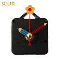 Horloges murales Silence Quartz Horloge Mécanisme Mécanisme Pièces de réparation avec crochet Crayon Mains de fleurs Kit mécanique Outils