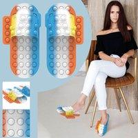Nuevo Popper Hot Popper Fidget Shoes Toys Pops su burbuja Simpl Dimmer Fidget Zapatos Juguetes Descompresión Sensory Toy Slippers
