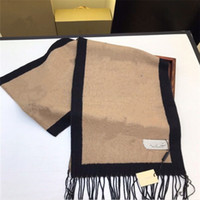 Lenços elegantes para homens e mulheres, quatro estações verificadas letras Lenço de alta qualidade de cashmere designer 180x30cm,