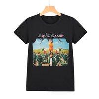 Children's T-shirts 2021 new fashion one piece squid game pattern summer men's matching women's T-shirt