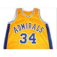 GoodJob Erkekler Gençlik Kadınlar Vintage ## 34 Kevin Garnett Admirals Koleji Basketbol Forması Boyutu S-6XL veya Özel Herhangi Bir Ad veya Sayı Forması