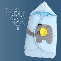 Baby Cocoon Newborn Baby Sleeping Bag Swaddle Wrap Carriage Sack Cartoon Elephant Design Diaper Changing Sleep Bag H1019