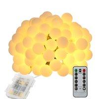 Tomshine string luz 0.6w 10m / 32.8ft 80leds bateria ip44 resistência à água IP44 com controle remoto para festa sala de estar quarto pátio g