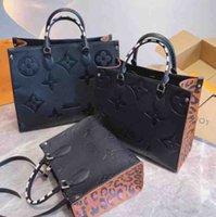 """GG """"LV"""" Louis ... Vitton YSL ... Vutton Designer Mulheres Ontego Bags Trançado Cowhide Couro selvagem no coração Leopard-Imprimir bolsa de luxo bolsa bolsa bolsa bolsa bolsa de bolsa"""