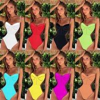 2021 Новые Женщины Дренгор Компания Bodysuit Сплошной Один кусок Купальник Летний Сексуальный Слинг Сетки Бикини Одежда Летний Стиль 913