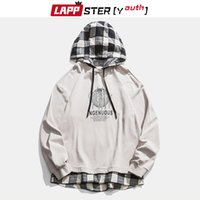 Lappster-youth plaid plaid harajuku hoperized foodies pullover uomo coreano fashions felpa streetwear hip hop kpop abbigliamento