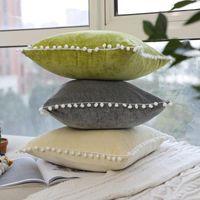 Cubierta nórdica de cojín de terciopelo gris / beige / verde Pillowcasas cuadradas para silla de sofá CUBIERTAS DE CUMAJE DE DORMITORIO DE DORMACIONES 45 * 45 CM