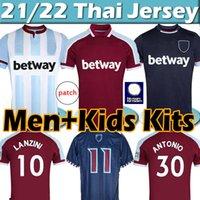 2021 2022 غرب حديد بنطلون X Lingard Ham Soccer Jerseys Lanzini Haller Antonio الأرز 125th Anniversary Jersey 21/22 Men Kids Kits قمصان كرة القدم