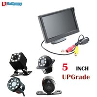 Haisunny 8LED Lights Nachtsicht Backup Hinterer Kamera mit Full HD TFT Car Monitor 5 Zoll für Fahrzeugkamera-Parksystem