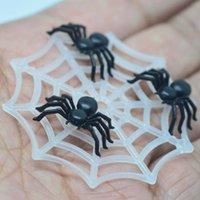 Miniaturas da Web do Halloween Spiderspider, suprimentos de decoração do partido de Halloween, embelezamentos de scrapbook Materiais de Cabochões Y0909