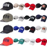 2021 بيع أيقونة رجل مصمم القبعات casquette d2 الفاخرة التطريز كاب قابل للتعديل 23 لون قبعة وراء حرف 42mt #