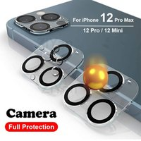 3D Transparent Full Cover Camera Back Lens Protector Tempered Glass Film for iphone 12 mini pro max 11 Pro max with retail