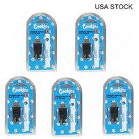 ABD Stok Çerezler 350 mAh Pil 510 Konu Vape Kartuşları Buharlaştırıcı Değişken Voltaj E Sigara Çerez Piller Ile USB Şarj Cihazı Vapes Arabaları Için