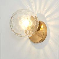 الحديثة الزجاج جولة الجدار مصباح الاسكندنافية الجدار الشمعدان السرير مصباح الإنارة زين مورال سلالم أدى ضوء E27 الإضاءة المنزلية
