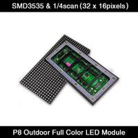 디스플레이 40pcs / lot 스크롤 LED 기호 P8 모듈 256 * 128mm 풀 컬러 패널, 야외 RGB