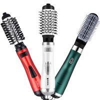 Escovas de cabelo elétrico 2 em 1 rolo automático de rolos de secador de enrolamento de ferro rolador Auto giro escova de ar sopro ondas secas pente