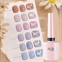 Nail Gel 10ml Mermaid Effect Polish Aurora Light Multiple Colors Manicure Poly Soak Off Building For Female Accessories