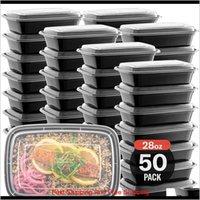 Lancheira descartável com tampa, descartável refeição caixa de preparação 750ml barato plástico takeaway recipiente de alimentos takeaway almoço de microondas ft7j p cxj7r