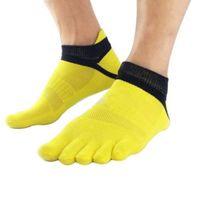 Winter Socks 1Pairs 38-43 Outdoor Men\'s Breathable Cotton Toe Socks Sport Jogging cycling running 5 Finger Toe slipper sock