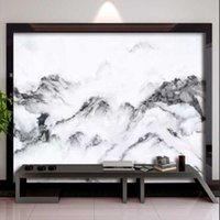 Wallpapers Milofi Customized 3D Printing Wallpaper Mural Artistic Conception Black And White Mountains Clouds Scenery Background Map