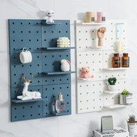 Hooks & Rails Home Hole Board Storage Rack Wall Shelf Kitchen Organizer Bathroom Accessories Bedroom Decor Shelves Organization
