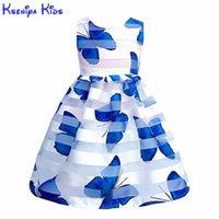 Kseniya Kids Summer Girls Butterfly Vestido de encaje Vestido grande Ropa Vestidos para niños para niñas Niñas Niñas Cumpleaños Desgaste suave 210303