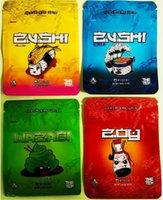 Borsa di imballaggio di alta qualità nuova 3 design Zu_shi con cerniera impermeabile con cerniera a prova di bambino opaca oliatura sacchetto di imballaggio alimento di plastica Huachuafjiiu