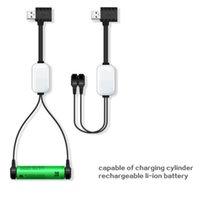 2019 Yeni Adeaska A10 18650 Batarya Şarj Li-Ion Piller Için Çok İşlevli Manyetik USB Şarj Mini Şarj / Boşaltma Güç Bankası