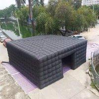 جديد arriver 8x8x3.5 متر أسود مكعب خيمة نفخ مكعب سرادق منزل ساحة حزب سينمائي بناء مخصص للمملكة المتحدة نيوزيلندي au usa ca es