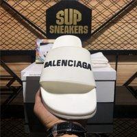 Top Qualité Paris Fashion Mens Hommes Femme Givenchy Slipper Balenciaga Slide Sandal Chaussures Sandales Été Sandales en caoutchouc Beach Fashions Scuffs Pantoufles Taille d'intérieur avec boîte 36-45