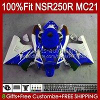 Injektion für Honda NSR 250R NSR250 blau glänzend NSR 250 R 90 91 1992 1993 103HC.142 NSR250R MC21 PGM3 NSR250RR 1990 1991 92 93 OEM-Verkleidung