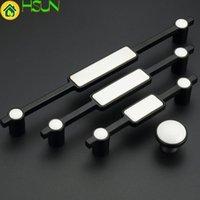 5 '' 7.55 '' 10 '' Black White Dresser Tira maniglia Manopole Drawer Tirare la porta Porcellana Porta Pull Molli Mobili Mobili Maniglia in ceramica