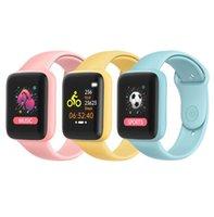 Macaron Y68 Smart Watch Reloj Inteligente Pulseira D20 Atualização Esporte Fitness Tracker Monitor Coração Frequência Pulseira D20s Smartwatch Música Bluetooth