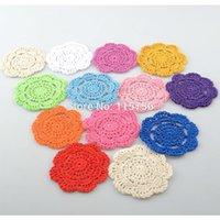 50pcs / lot 10 cm Tavolo rotondo Tappetino da tavola rotonda Colatori da crochetti Dilies Coppa Pad Puntelli per paralume NL111 210316