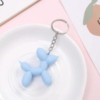 New color balloon dog for man Soft rubber PVC Nice key chains Women Car Key Ring bag Keychain